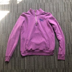 PINK Victoria's Secret Purple Fleece Pullover